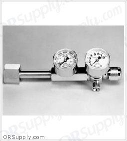 Salter CGA540 Oxygen Regulator, Brass, 1 Each