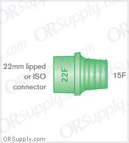 Intersurgical 22F to 15F Elastomeric Connectors - Case of 50