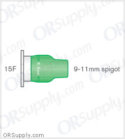 Intersurgical 15F to 9-11mm Stem Adaptation Elastomeric Connectors - Case of 50
