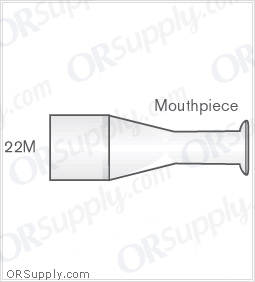 Intersurgical 22M Mouthpieces - Case of 50