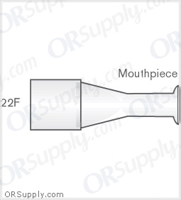 Intersurgical 22F Mouthpieces - Case of 50