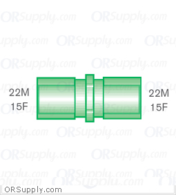 Intersurgical 22M and 15F to 22M and 15F Straight Connectors - Case of 50