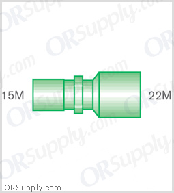 Intersurgical 15M to 22M Straight Connectors - Case of 50