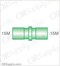 Intersurgical 15M to 15M Straight Connectors - Case of 50
