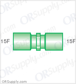 Intersurgical 15M to 15F Straight Connectors - Case of 50