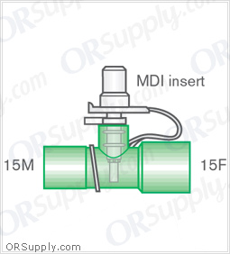 Intersurgical 15M to 15F Metered Dose Inhaler Connectors - Case of 50