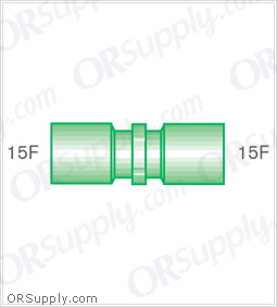 Intersurgical 15F to 15F Straight Connectors - Case of 50