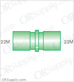 Intersurgical 22M to 22M Straight Connectors - Case of 50