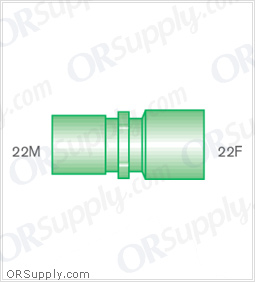 Intersurgical 22M to 22F Straight Connectors - Case of 50