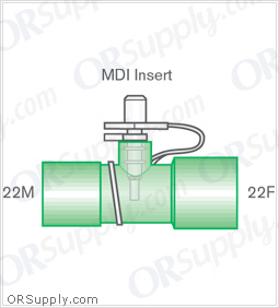 Intersurgical 22M to 22F Metered Dose Inhaler Connectors - Case of 50