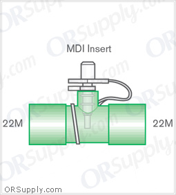 Intersurgical 22M to 22M Metered Dose Inhaler Connectors - Case of 50