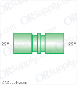 Intersurgical 22F to 22F Straight Connectors - Case of 50