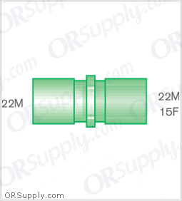 Intersurgical 22M to 22M and 15F Straight Connectors - Case of 50