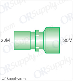 Intersurgical 22M to 30M Straight Connectors - Case of 50