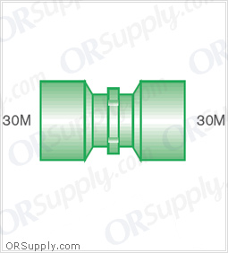 Intersurgical 30M to 30M Straight Connectors - Case of 50