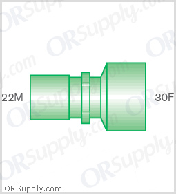 Intersurgical 22M to 30F Straight Connectors - Case of 50