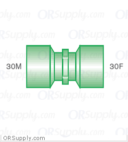 Intersurgical 30M to 30F Straight Connectors - Case of 50