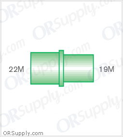 Intersurgical 22M to 19M Straight Connectors - Case of 50