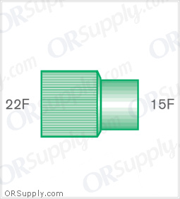 Intersurgical 22F to 15F Straight Connectors - Case of 50