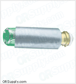 2.5V Fiber Optic Replacement Lamp w/ ADC Green, Riester, Heine, Rusch Laryngoscopes,  Pack of 2