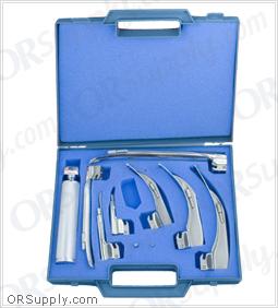 Sun-Med Conventional MacIntosh & Miller American Profile Laryngoscope Set