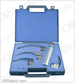 Sun-Med GreenLine Fiber Optic MacIntosh American Profile Laryngoscope Set