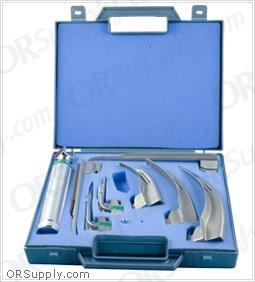 Sun-Med GreenLine Fiber Optic MacIntosh & Miller English Profile Laryngoscope Set