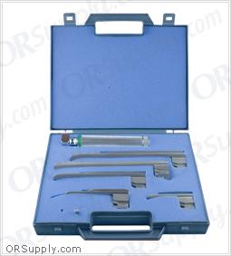 Sun-Med GreenLine Fiber Optic Miller English Profile Laryngoscope Set