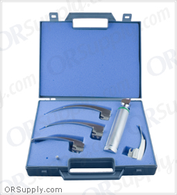 "Sun-Med Fiber Optic MacIntosh ""G"" Profile Laryngoscope Set"
