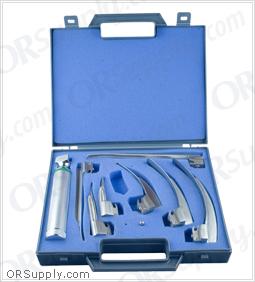 """Sun-Med Fiber Optic MacIntosh & Miller """"G"""" Profile Laryngoscope Set"""