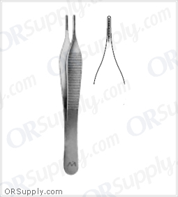 Marina Medical Adson-DeBakey Forceps - Straight, Atraumatic, 2.0mm Jaw 12cm/4.75in
