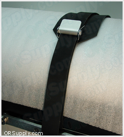 Patient Safety Straps for Surgical Tables - All Rubber with Airplane Buckles