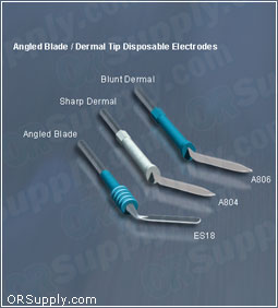Bovie Disposable Sterile Angled Blade & Dermal Tip ESU Electrodes