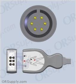 Airshields ECG Cable, 3-Lead AHA