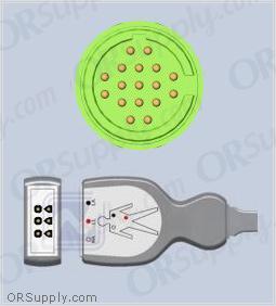 Burdick SpaceLabs ECG Cable, 3-Lead AHA