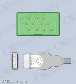 GE Marquette ECG Cable, 3-Lead IEC Safety Din