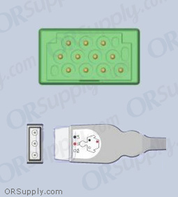 GE Marquette ECG Cable, 3-Lead AHA Safety Din