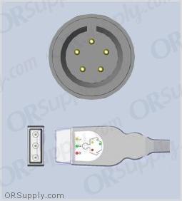 GE Corometrics ECG Cable, 3-Lead IEC Safety Din