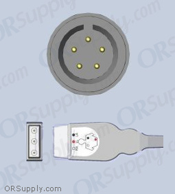 GE Corometrics ECG Cable, 3-Lead AHA Safety Din