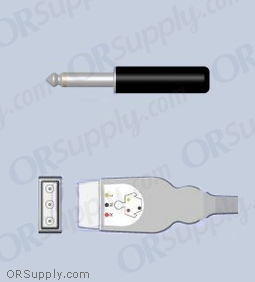 32mm Plug ECG Cable for Abbott, Aequitron, Airshields, Briox, Del Mar, and Cardiac Electronics
