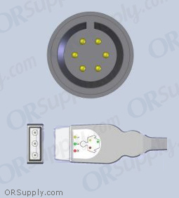 Airshields Neonatal ECG Cable, 3-Lead IEC Safety Din