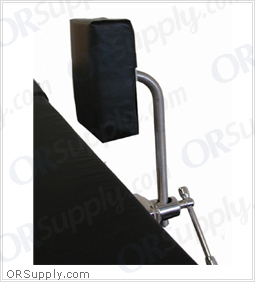 "Leg Support - Stress Post Stainless Steel w/4"" x 6"" Firm Pad (Requires 1 Clark Socket for Mounting)"