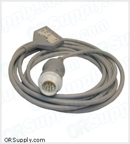 3-Lead Patient ECG Cable for 12-Pin Hewlett Packard Codemasters and Merlin Monitors