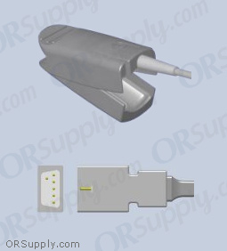 Critikon SpO2 Finger Sensor with Large Reusable Finger Probe (3 Feet, Indirect)