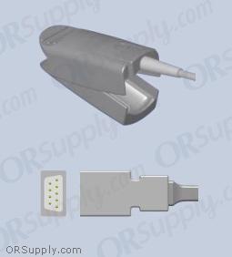 Datex SpO2 Finger Sensor with Large Reusable Finger Probe (3 Feet, Indirect)