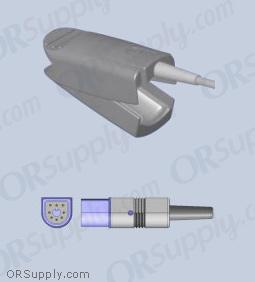 Philips SpO2 Finger Sensor with Large Reusable Finger Probe (5 Feet, Direct)