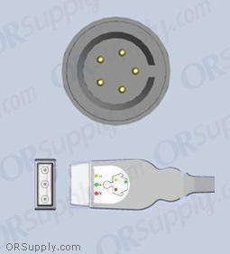 Datascope ECG Cable, 3-Lead IEC Safety Din