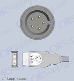 Datascope ECG Cable, 3-Lead AHA Safety Din