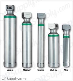 Sun-Med Stainless Steel Greenline Fiber Optic Laryngoscope Handles