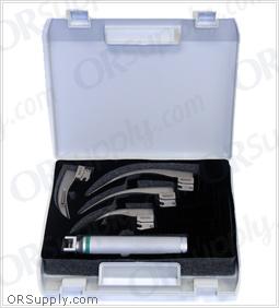 Flexicare Venticaire Fiber Optic Macintosh English Profile Full Laryngoscope Set